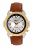 Leather Strap with White Dial Analog Watch Online