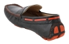 Black Orange Leather Driving Shoes
