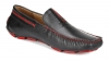 Black Burgundy Leather Driving Shoes