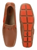 Tan Orange driving moccasin shoes