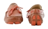 Tan Orange Leather Driving Shoes