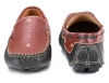 Tan Black Leather Moccasin