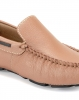 Beige leather moccasin