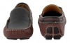 Maroon Black Leather Driving Shoes
