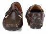 Chocolate Color Leather Driving Shoes