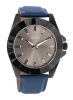 Blue Leather Strap Hand Quartz Watch for Men Online