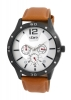 Tan Leather Strap Multi-function Analog Watch for Men Online